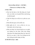 Giáo án tiếng việt lớp 2 - TẬP ĐỌC: Chim sơn ca và bông cúc trắng