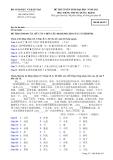 ĐỀ THI TUYỂN SINH ĐẠI HỌC NĂM 2011 Môn: TIẾNG TRUNG QUỐC; Khối D; Mã đề thi 913