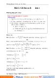 Phương pháp giải bài toán giới hạn hàm số