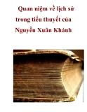 Quan niệm về lịch sử trong tiểu thuyết của Nguyễn Xuân Khánh _1