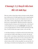 Chương1: Lý thuyết tiến hoá đối với sinh học_2