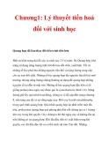 Chương1: Lý thuyết tiến hoá đối với sinh học_3