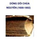 DÒNG DÕI CHÚA NGUYỄN (1600-1802)  _5