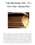 Triệu Việt Vương ( 549 – 571) Niên hiệu : Quang Phục