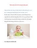 7 điều cấm kỵ khi cho bé uống sữa đậu nành