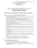 Câu hỏi và bài tập thực hành môn Kinh tế học vĩ mô I – Bộ môn Kinh tế học