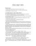 Giáo trình - Tâm lý học y học - chương 3