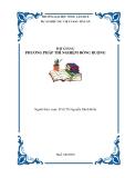 Bài giảng - phương pháp thí nghiệm đồng ruộng - chương 1