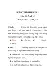 ĐỀ ÔN THI ĐẠI HỌC SỐ 2 Môn thi: VẬT LÍ
