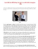 Làm thế nào để không còn rụt rè và nhút nhát trong giao tiếp
