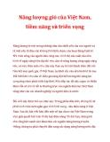 Năng lượng gió của Việt Nam, tiềm năng và triển vọng_1