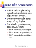 GIAO TIẾP SONG SONG