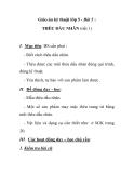 Giáo án kỹ thuật lớp 5 - Bài 5 : THÊU DẤU NHÂN (tiết 1)