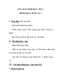 Giáo án kỹ thuật lớp 5 - Bài 3 : ĐÍNH KHUY BẤM (tiết 1)