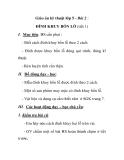 Giáo án kỹ thuật lớp 5 - Bài 2 : ĐÍNH KHUY BỐN LỖ (tiết 1)