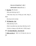 Giáo án kỹ thuật lớp 5 - Bài 1: ĐÍNH KHUY HAI LỖ (tiết 1)