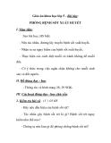 Giáo án khoa học lớp 5 - Bài dạy: PHÒNG BỆNH SỐT XUẤT HUYẾT
