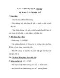 Giáo án khoa học lớp 5 - Bài dạy: VỆ SINH Ở TUỔI DẬY THÌ