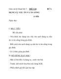 Giáo án kỹ thuật lớp 5 - TIẾT 24: DỤNG CỤ NẤU ĂN VÀ ĂN UỐNG (1 tiết)