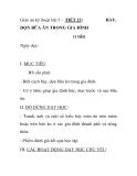 Giáo án kỹ thuật lớp 5 - TIẾT 23: DỌN BỮA ĂN TRONG GIA ĐÌNH (1 tiết)