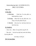Giáo án khao học lớp 5 - SỰ SINH SẢN CỦA THỰC VẬT CÓ HOA