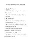 Giáo án kỹ thuật lớp 5 - Bài 10 : LUỘC RAU