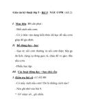 Giáo án kỹ thuật lớp 5 - Bài 9 : NẤU CƠM (tiết 2)