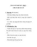 Giáo án kỹ thuật lớp 5 - Bài 8 : CHUẨN BỊ NẤU ĂN