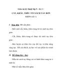 Giáo án kỹ thuật lớp 5 - Bài 6 : CẮT, KHÂU, THÊU TÚI XÁCH TAY ĐƠN GIẢN (tiết 1)