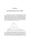 Dịch tễ học phân tích : Khái niệm chung về bệnh