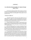 Dịch tễ học phân tích : Các phương pháp nghiên cứu dịch tễ học phân tích