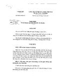 Nghị định số 54 năm 2011 của CP