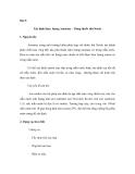 Thí nghiệm quan trắc khảo sát môi trường - Phần 2 - Bài 8