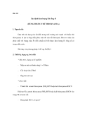 Thí nghiệm quan trắc khảo sát môi trường - Phần 2 - Bài 10
