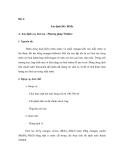 Thí nghiệm quan trắc khảo sát môi trường - Phần 2 - Bài 4
