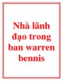 Nhà lãnh đạo trong bạn - Warren Bennis