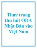 Thực trạng thu hút ODA Nhật Bản vào Việt Nam