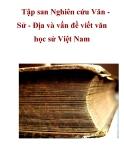 Tập san Nghiên cứu Văn Sử - Địa và vấn đề viết văn học sử Việt Nam