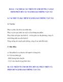 BÀI 41 : VAI TRÒ & CÁC NHÂN TỐ ẢNH HƯỞNG VÀ ĐẶC ĐIỂM PHÂN BỐ CÁC NGÀNH GIAO THÔNG VẬN TẢI