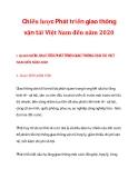 Chiến lược Phát triển giao thông vận tải Việt Nam đến năm 2020_1