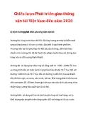 Chiến lược Phát triển giao thông vận tải Việt Nam đến năm 2020_2