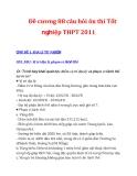 Đề cương 88 câu hỏi ôn thi Tốt nghiệp THPT 2011 CHỦ ĐỀ 1: ĐỊA LÍ TỰ NHIÊN CĐ1