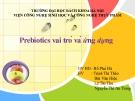 """Tiểu luận """"Prebiotics vai trò và ứng dụng"""""""