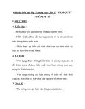Giáo án hóa học lớp 11 nâng cao - Bài 9: KHÁI QUÁT NHÓM NITƠ.