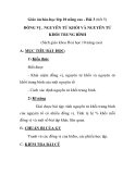 Giáo án hóa học lớp 10 nâng cao - Bài 3 (tiết 5) ĐỒNG VỊ . NGUYÊN TỬ KHỐI VÀ NGUYÊN TỬ KHỐI TRUNG BÌNH