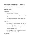 Giáo án hóa học lớp 11 nâng cao - BÀI 4: SƯ ĐIÊN LI CUA NƯỚC ; pH ; CHẤT CHỈ THỊ AXIT - BAZƠ