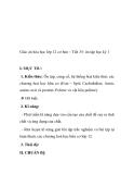 Giáo án hóa học lớp 12 cơ bản – Tiết 35: ôn tập học kỳ 1