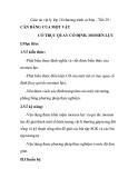 Giáo án vật lý lớp 10 chương trình cơ bản - Tiết 29 : CÂN BẰNG CỦA MỘT VẬT CÓ TRỤC QUAY CỐ ĐỊNH. MOMEN LỰC