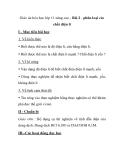 Giáo án hóa học lớp 11 nâng cao - Bài 2 - phân loại các chất điện li