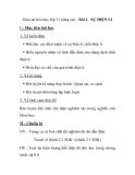Giáo án hóa học lớp 11 nâng cao - Bài 1. SỰ ĐIỆN LI